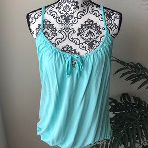4 for $25☀️Old Navy Turquoise Tank w/ Built-In Bra
